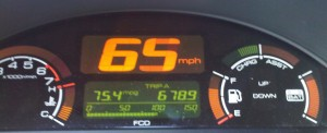Real time MPG gauge