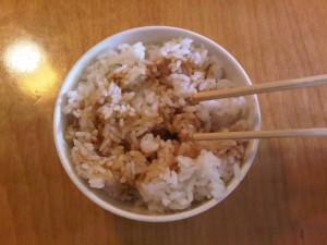 12:11pm Rice w/ teriyaki sauce