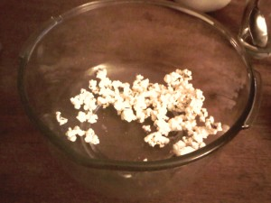 11:42pm Air popped popping corn
