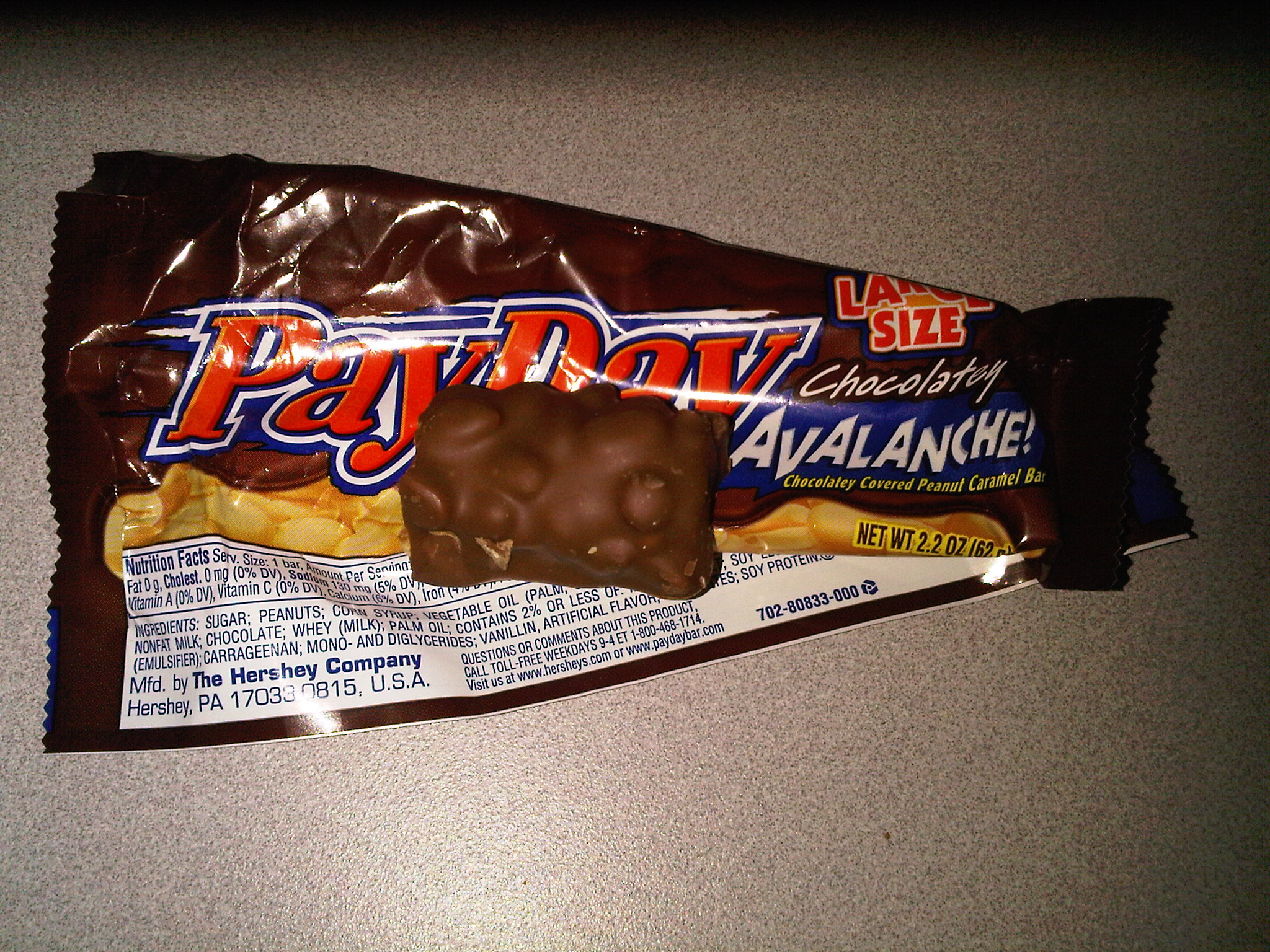 chocolate payday candy bar