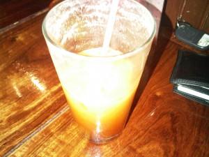 6:52pm Thai Ice Tea w/ coconut milk