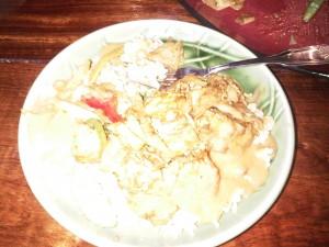 7:05pm Pad khee-mao w/ tofu