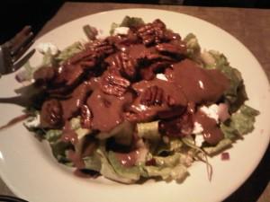 6:32pm Beet salad w/ caramelized walnuts
