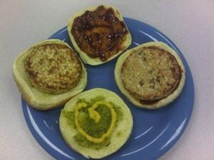 12:52pm Basic double garden burger