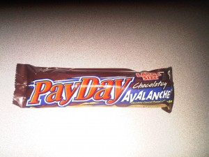 3:05pm PayDay candy bar