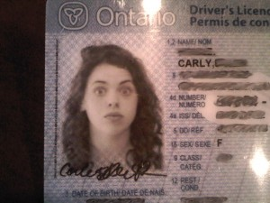 The best license photo... ever!